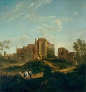 Ruins Of Leybourne Castle, Kent, From The South West