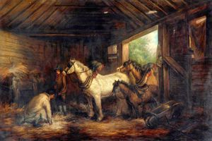 Interior Of A Stable