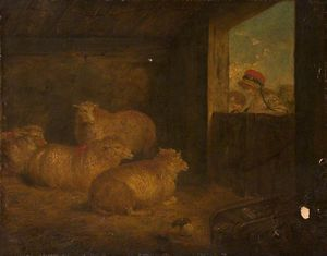 Interior With Sheep