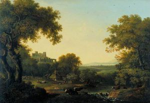 Landscape With Castle On A Hill