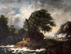 Rocky Shore Scene With A Ship Foundering