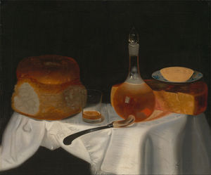 Still Life Of Bread, Butter And Cheese