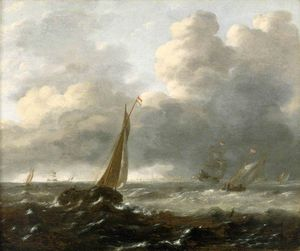 Shipping In A Stormy Sea