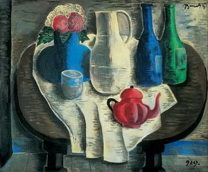 Still Life With A Red Teapot