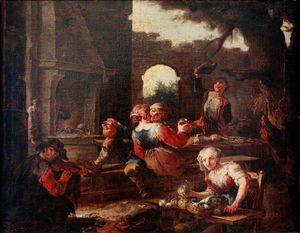 Peasants Drinking Scene