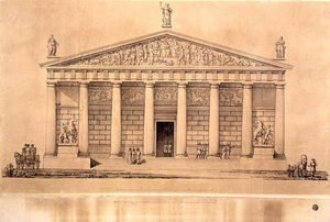 The Riding School Of The Imperial Guards, St. Petersburg (engraving)