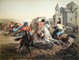 Skirmish Of Persians And Kurds In Armenia