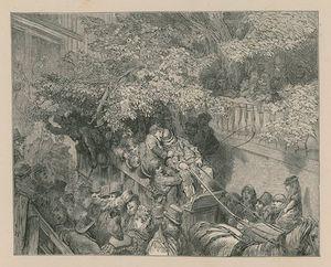 A Crowded Horse-drawn Coach