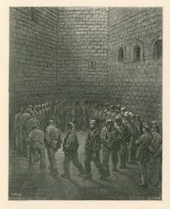 Prisoners In Newgate Prison Exercise Yard