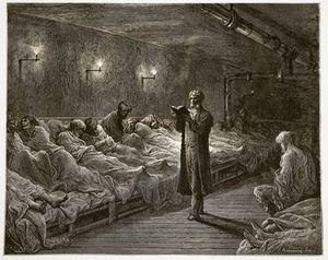 Scripture Reader In A Night Refuge