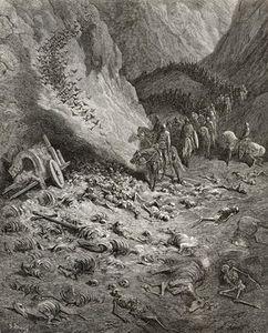 L esercito della seconda crociata trovare i resti dei soldati