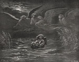 The Child Moses On The Nile