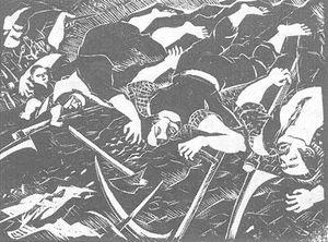 Dózsa-series Xia. Slaughtered Peasants