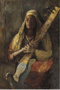 The Oriental Lute Player