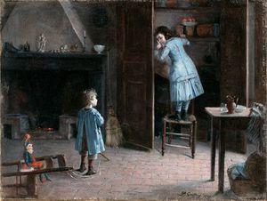 Children In An Interior