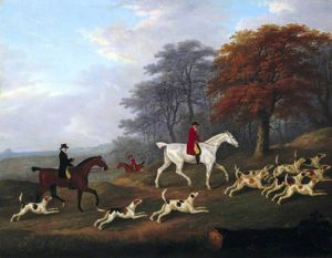 The Earl Of Darlington Fox-hunting With The Raby Pack -
