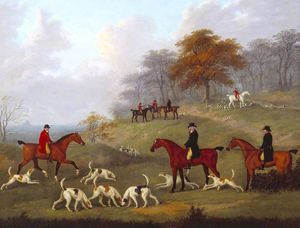 The Earl Of Darlington Fox-hunting With The Raby Pack