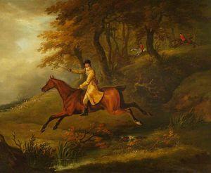 Thomas Oldaker, Huntsman To The Berkeley, On His Hunter 'magic' Breaking Cover