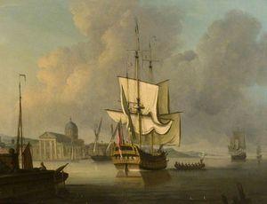 Capriccio With A British Man O' War