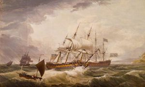 Third Rates In A Rough Sea