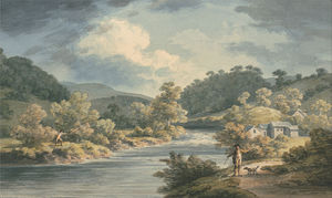 A Fisherman In The Vale Of Myfod, Site Of The Palace Of The Princess Of Powis