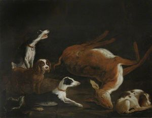 Sir Cordell Firebrace's Dogs By A Dead Hind
