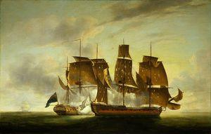 Combat De La Fregate Amazone Et Du Hms Santa Margarita Juillet