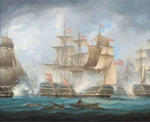 'nelson's Patent Bridge For Boarding First Rates' At The Battle Of Cape St. Vincent