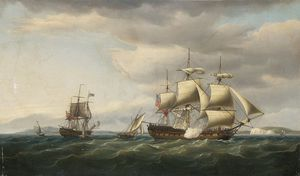 The East Indiaman Rodney In Two Positions Off The English Coast