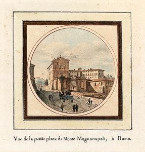 The Arch Of Septimius Severus Rome; And The Piazza Monte Magnanapoli, Rome