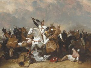 Richard I At The Battle Of Ascolan