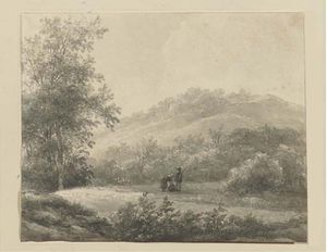 A Hilly Landscape With Figures