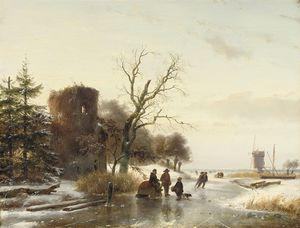 On The Ice Near A Ruin