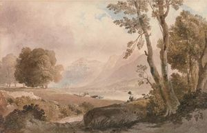 Cattle Watering In The Lake District