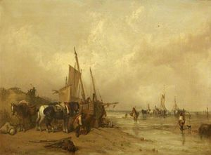 A Coast Scene With Fishing Boats