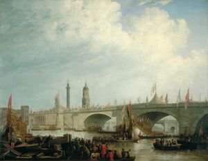 The Opening Of London Bridge By William Iv