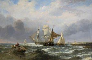Vessels Off The Dutch Coast