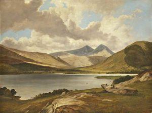 Scottish Loch With Game Birds