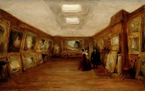 Interior Of Turner's Gallery -the Artist Showing His Works