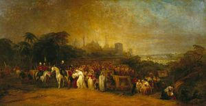 Lucknow - Evening. The Sufferers Besieged At Lucknow, Rescued By General Lord Clyde