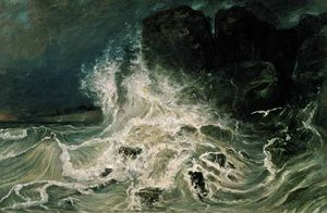 Rough Sea At Granville