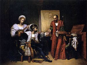 Charles V Picking Up Titian's Paintbrush