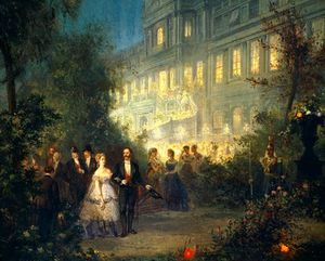 Night Festival At The Tuileries In Paris