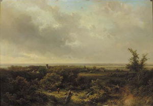A Panoramic Landscape, Haarlem In The Distance