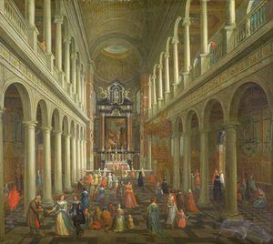 Interior Of The Jesuit Church, Antwerp