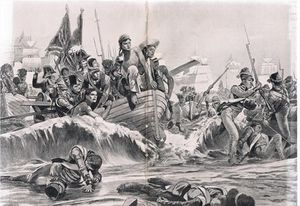 The Landing Of The British Troops In Aboukir Bay