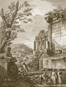 Plate I, From 'ruins Of The Palace Of Emperor