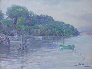 Shore Scene With Boats