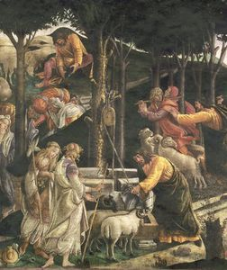 Detail Of The Youth Of Moses, In The Sistine Chapel