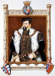 Portrait Of William Herbert 1st Earl Of Pembroke From 'memoirs Of The Court Of Queen Eli